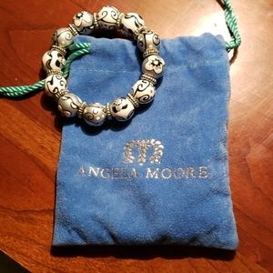 Angela Moore black and white and grey bracelet